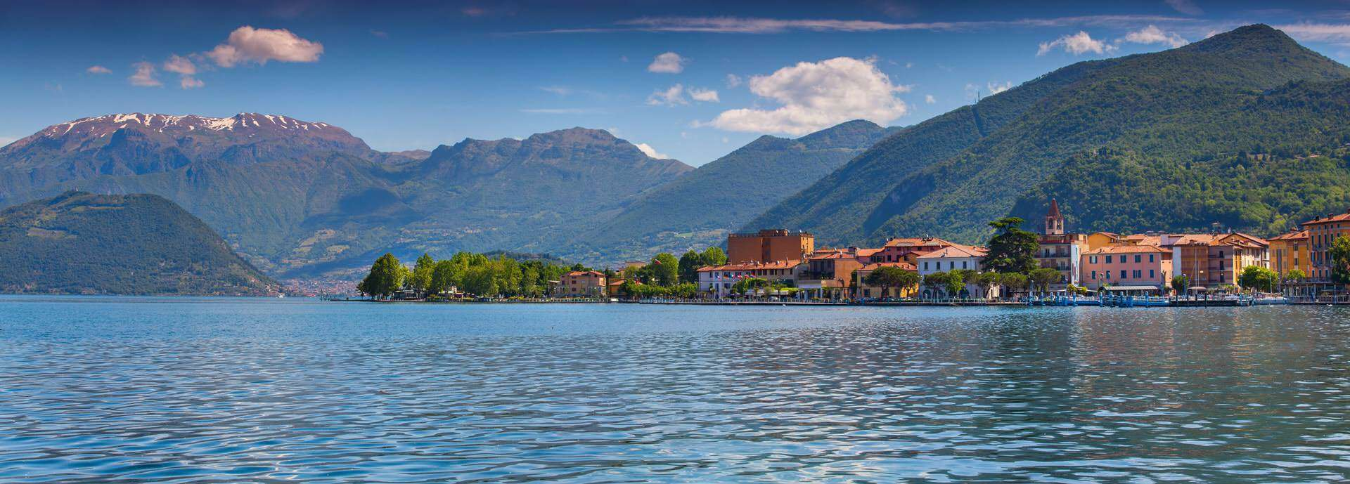 Panorama,Of,The,City,Clusane,,A,Bright,Sunny,Day.,Italy,